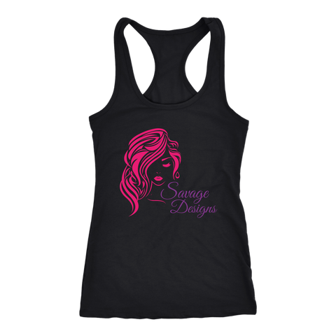 Savage Designs Women's Beauty Hot Pink/Purple Tank Top- 6 Colors