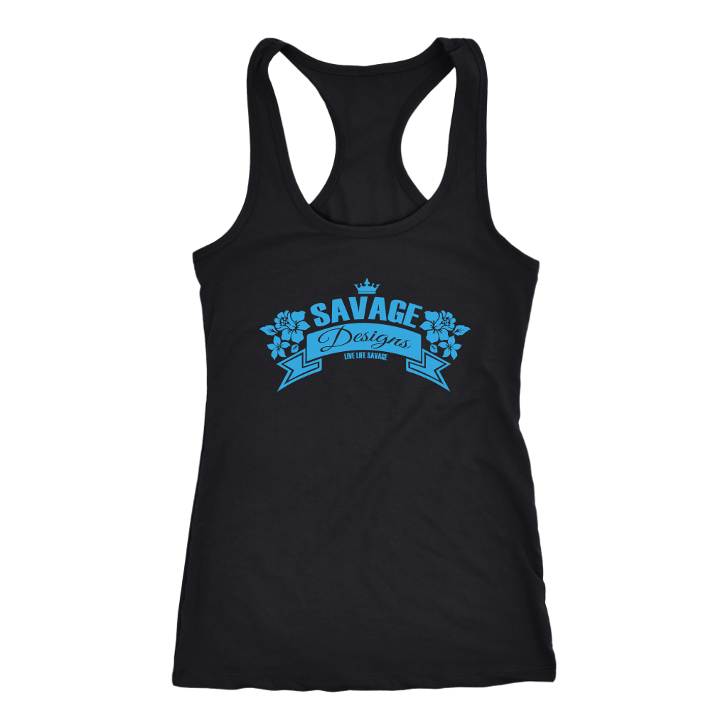 Savage Designs Royal Blossom Turquoise Tank Top- 8 Colors