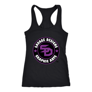 Savage Designs Symbol Patch Purple/Black/White Tank Top- 10 Colors