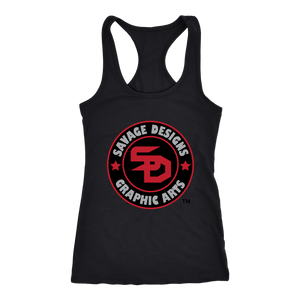 Savage Designs Symbol Patch Red/Black/Grey Tank Top- 7 Colors