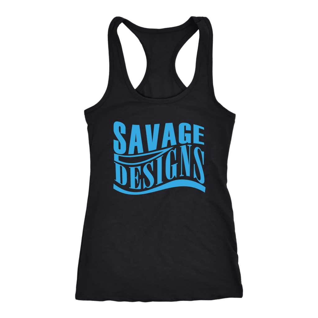 Savage Designs Warped Curve Turquoise Tank Top- 10 Colors
