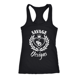 Savage Designs Heart of Hearts White Tank Top- 12 Colors