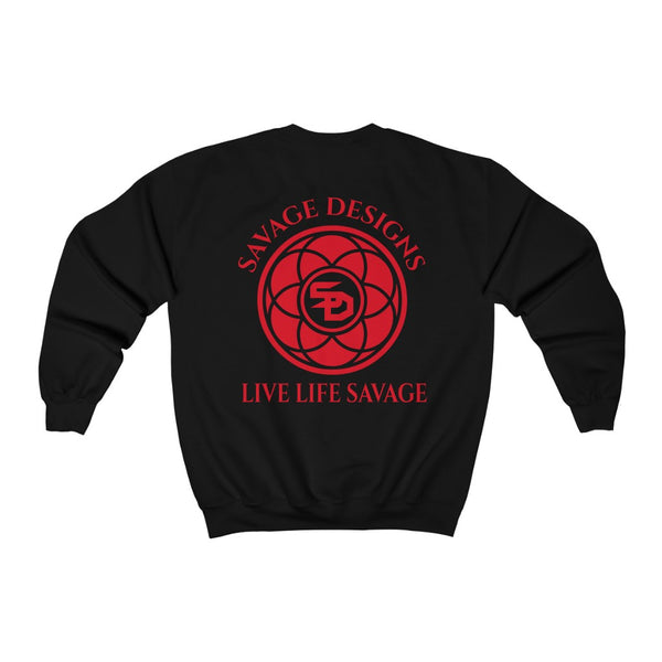 Savage Designs Egyptian Seed of Life Red Sweatshirt- 8 Colors