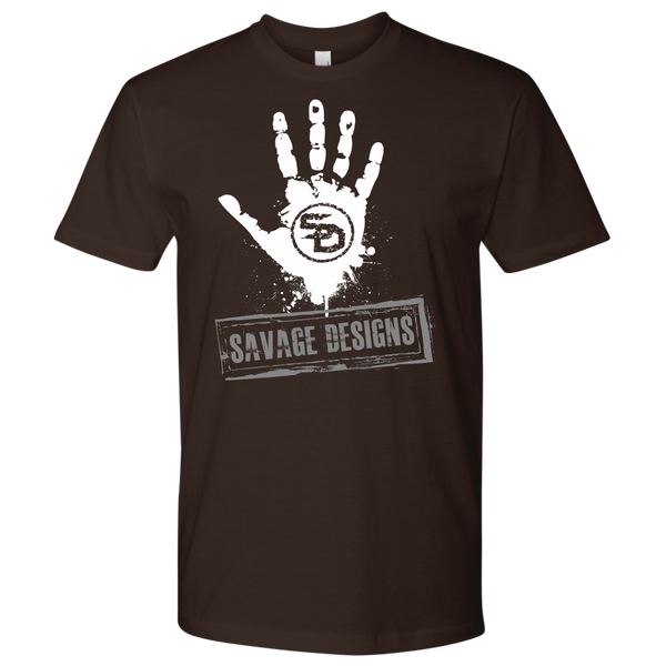 Savage Designs Handprint Stamp White/Grey- 8 Colors