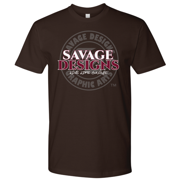 Savage Designs Faded Symbol White/Maroon/Grey- 8 Colors