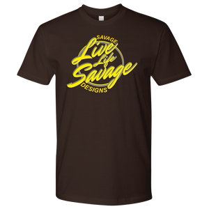 Savage Designs Live Life Savage Calligraphy Yellow/Grey- 9 Colors