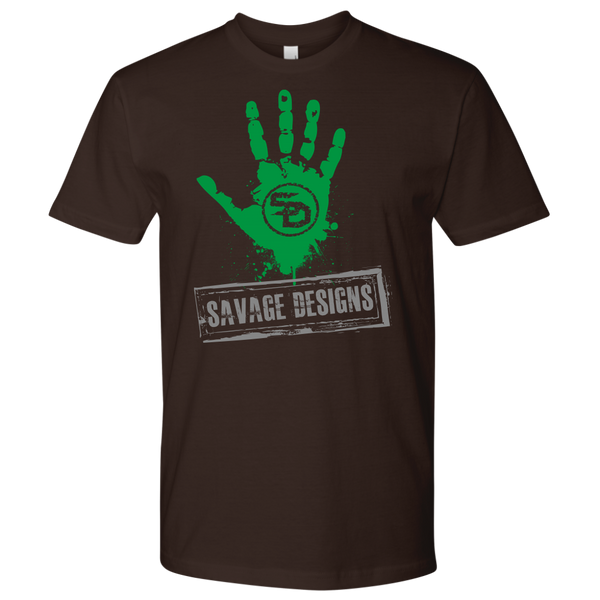 Savage Designs Handprint Stamp Green/Grey- 7 Colors