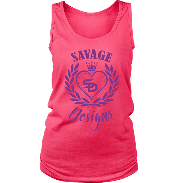 Savage Designs Heart of Hearts Purple Tank Top- 9 Colors