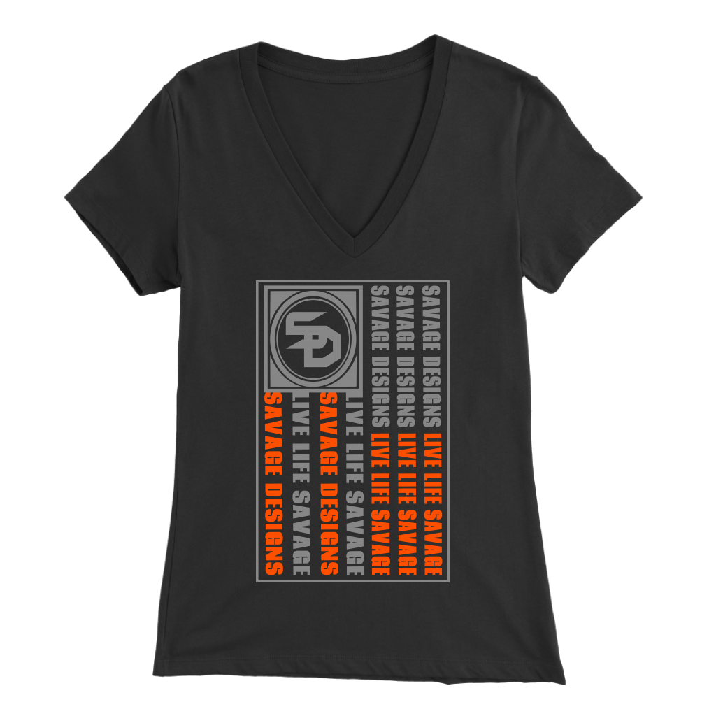Savage Designs Flag Grey/Orange V-Neck- 9 Colors