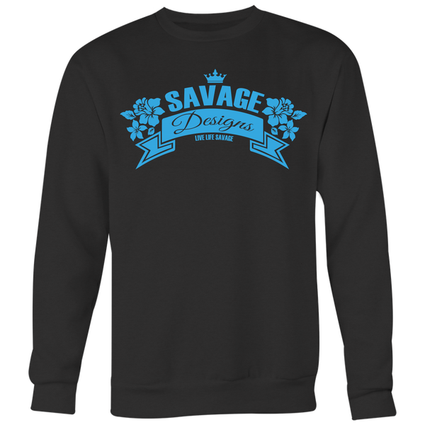 Savage Designs Royal Blossom Turquoise Sweatshirt- 8 Colors