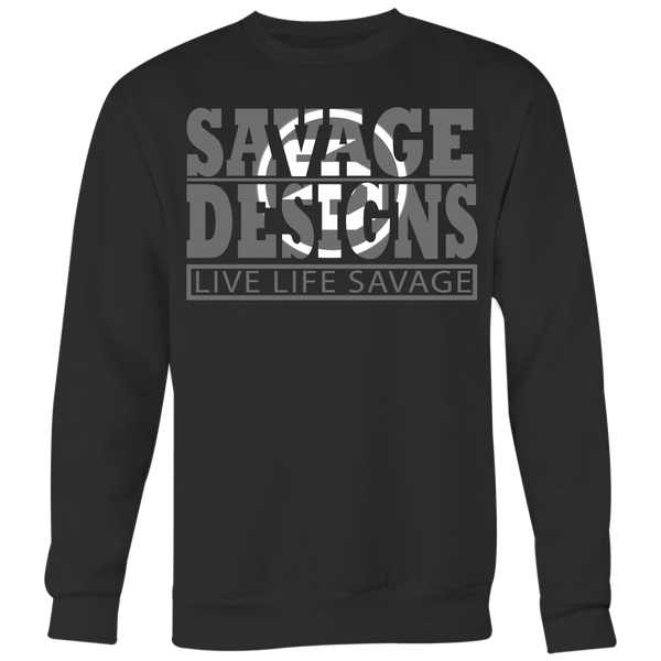 The Savage Within Grey/White Sweatshirt- 5 Colors