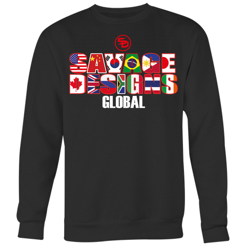 Savage Designs Global Sweatshirt Front and Back