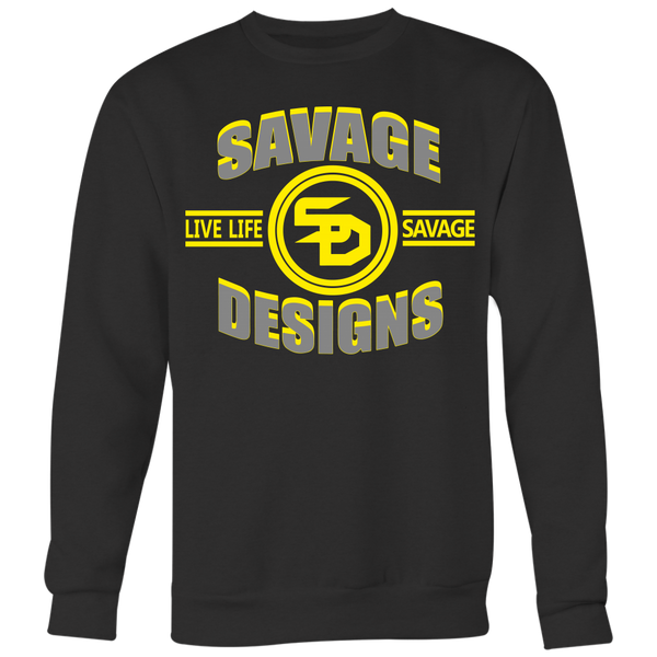 Savage Designs Dead Focus Grey/Yellow Sweatshirt- 7 Colors