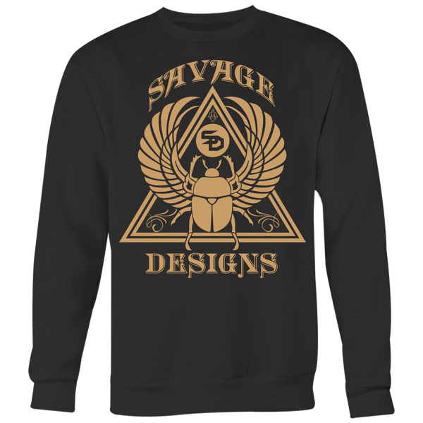 Savage Designs Eygptian Scarab Bettle Tan Sweatshirt- 8 Colors