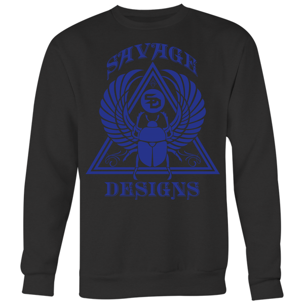 Savage Designs Eygptian Scarab Bettle Royal Blue Sweatshirt- 5 Colors