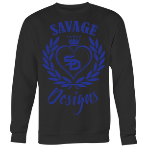 Savage Designs Heart of Hearts Royal Blue Sweatshirt- 5 Colors