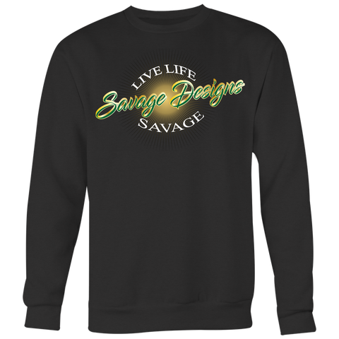Savage Designs Sunray Flare Green and Gold Sweatshirt- 11 Colors