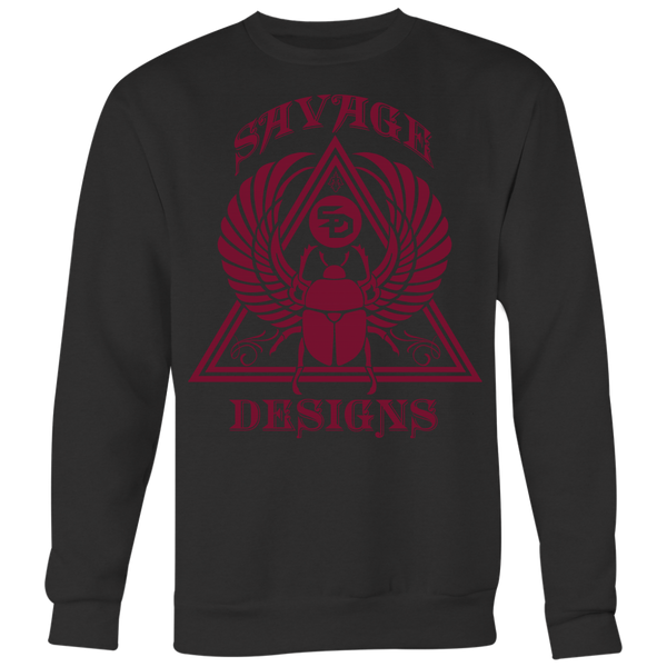 Savage Designs Eygptian Scarab Bettle Maroon Sweatshirt- 5 Colors