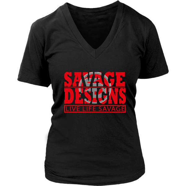 The Savage Within Red/Grey V-Neck- 8 Colors