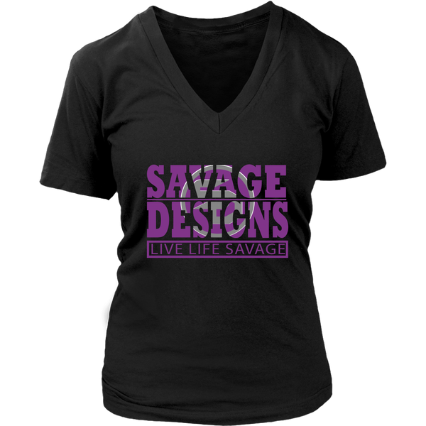 The Savage Within Purple/Grey V-Neck- 3 Colors