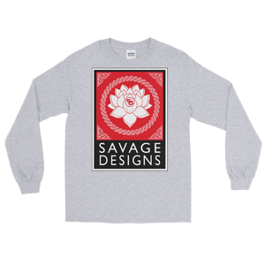 Savage Designs Lotus Flower Red/White/Black Long Sleeve- 4 Colors
