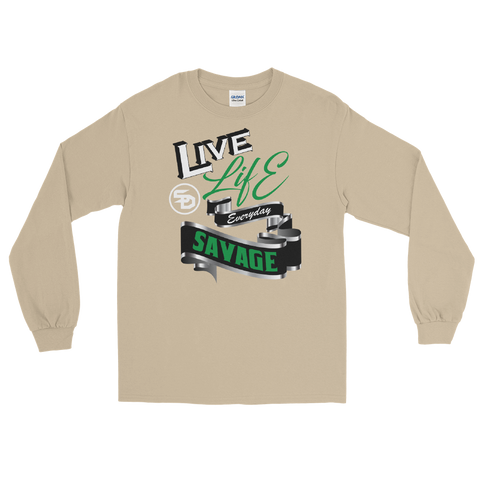Live Life Everyday Savage White/Black/Green/Silver- 3 Colors