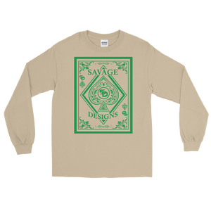 Savage Designs Ace of Spade Green Long Sleeve- 4 Colors