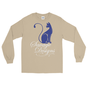 Savage Designs Lady Kitten Royal Blue/White Long Sleeve- 4 Colors