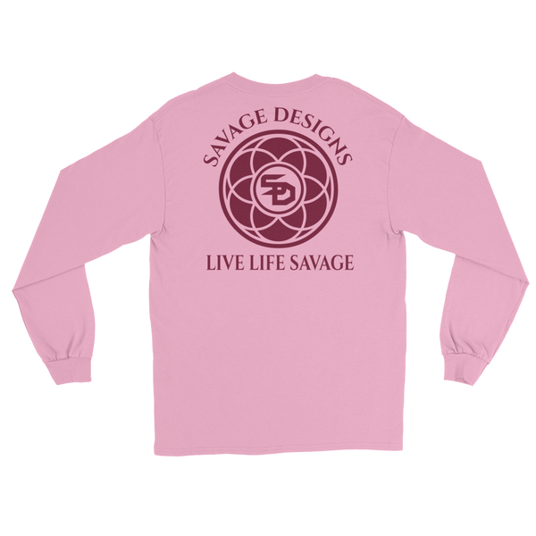 Savage Designs Egyptian Seed of Life Maroon Long Sleeve- 7 Colors