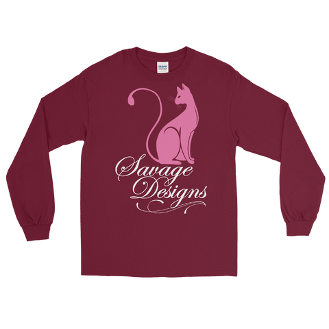 Savage Designs Lady Kitten Pink/White Long Sleeve- 2 Colors