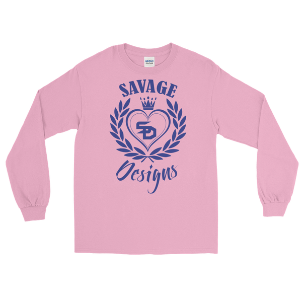 Savage Designs Heart of Hearts Royal Blue Long Sleeve- 6 Colors