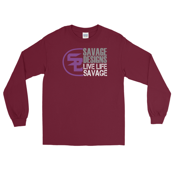 Savage Designs Sliced Up Purple/Grey/White Long Sleeve- 6 Colors
