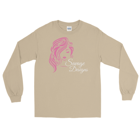 Savage Designs Women's Beauty Pink/White Long Sleeve- 2 Colors