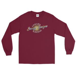 Savage Designs Sunray Flare Royal Blue and Gold Long Sleeve- 1 Color