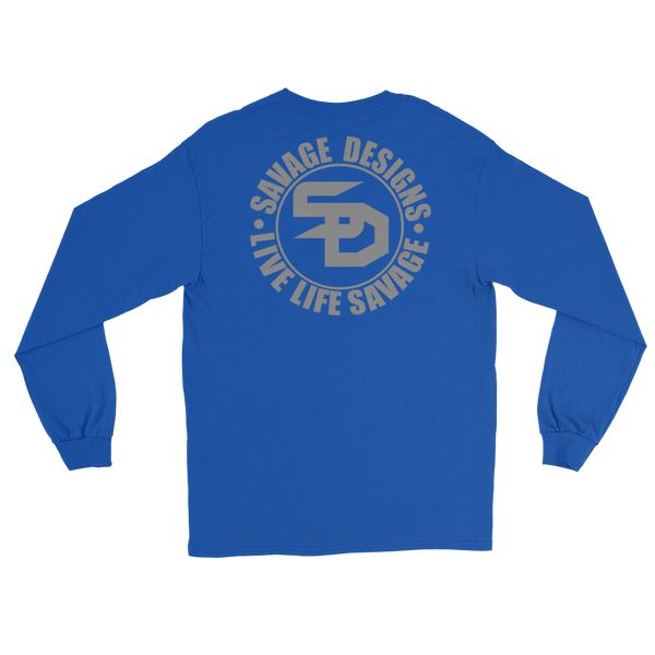 Savage Designs Triple Threat Grey Long Sleeve- 7 Colors