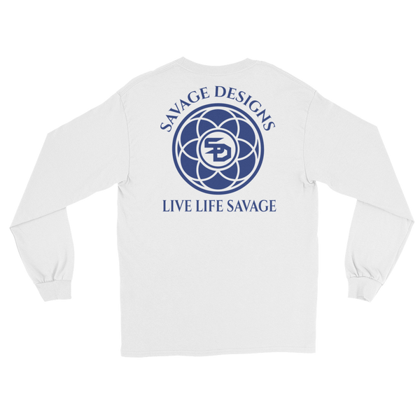 Savage Designs Egyptian Seed of Life Royal Blue Long Sleeve- 8 Colors