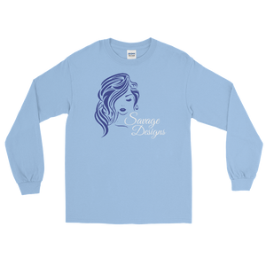 Savage Designs Women's Beauty Royal Blue/White Long Sleeve- 4 Colors