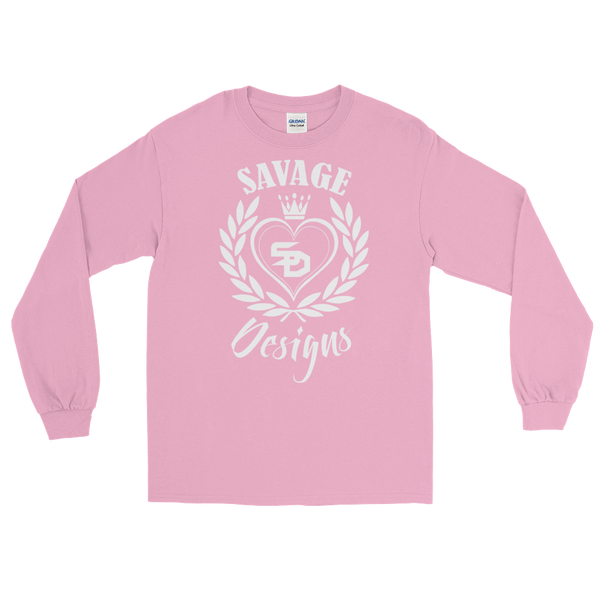 Savage Designs Heart of Hearts White Long Sleeve- 4 Colors