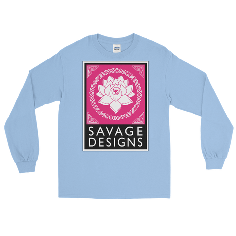 Savage Designs Lotus Flower Hot Pink/White/Black Long Sleeve- 6 Colors