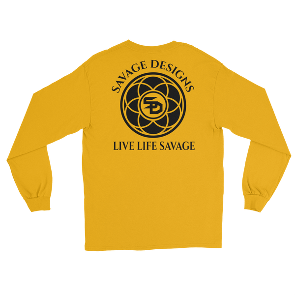 Savage Designs Egyptian Seed of Life Black Long Sleeve- 9 Colors