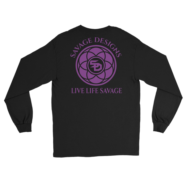 Savage Designs Egyptian Seed of Life Purple Long Sleeve- 7 Colors