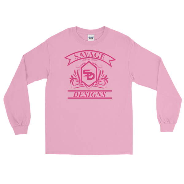 Savage Designs Diamond Floral Hot Pink Long Sleeve- 7 Colors