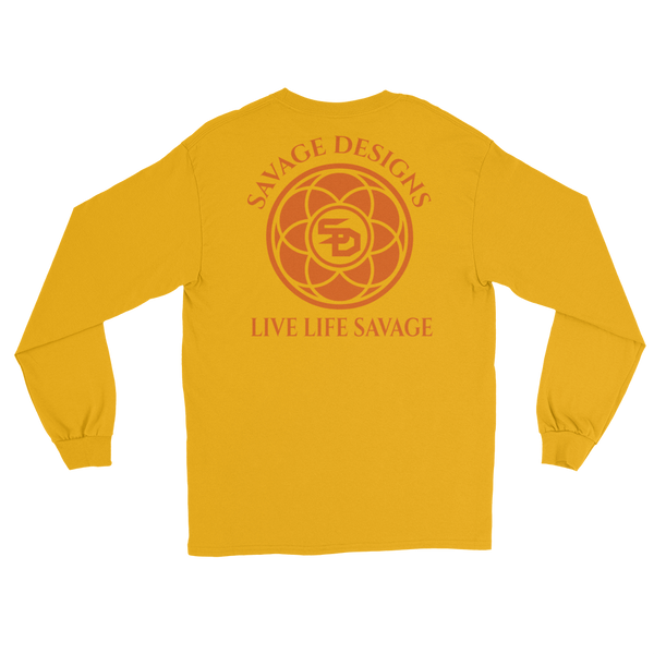 Savage Designs Egyptian Seed of Life Orange Long Sleeve- 8 Colors