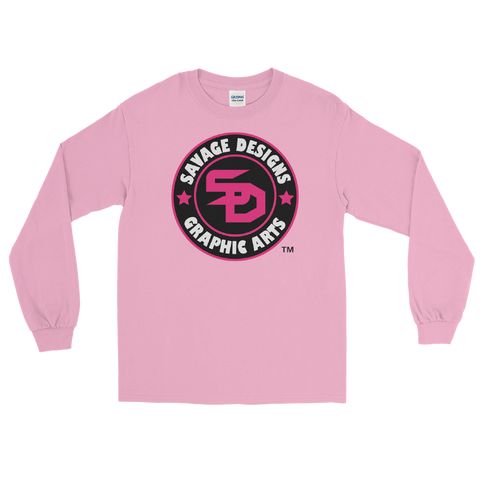 Savage Designs Symbol Patch Hot Pink/Black/White Long Sleeve- 5 Colors