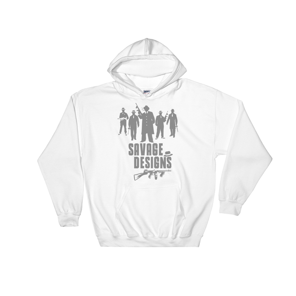 Savage Designs Mob Mafia Grey Hoodie- 2 Colors