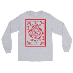 Savage Designs Ace of Spade Red Long Sleeve- 4 Colors