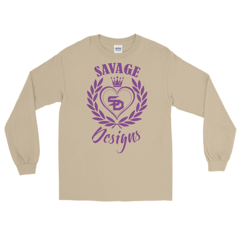 Savage Designs Heart of Hearts Purple Long Sleeve- 4 Colors