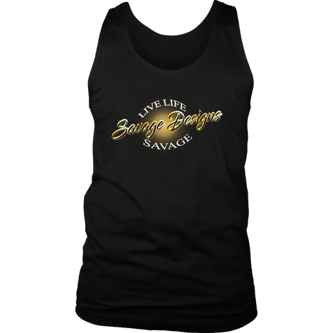Savage Designs Sunray Flare Black and Gold Tank Top- 16 Colors