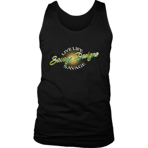 Savage Designs Sunray Flare Green and Gold Tank Top- 16 Colors