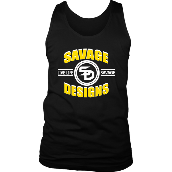 Savage Designs Dead Focus Yellow/White Tank Top- 11 Colors
